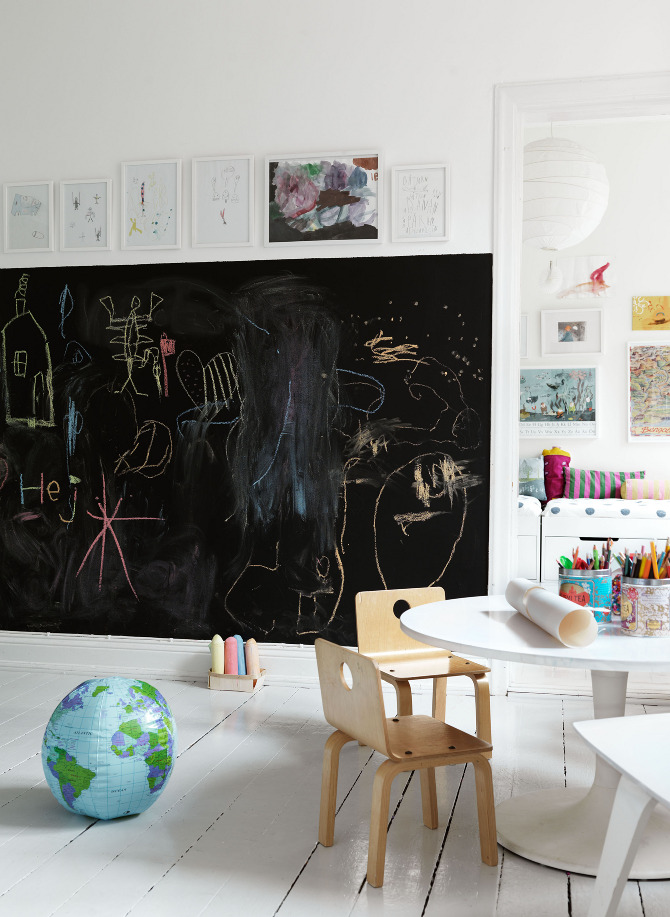 Chalkboard Wall- Family Friendly