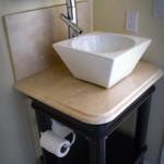 Vanity with Vessel Sink