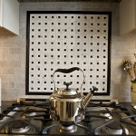 Custom mosaic stove backsplash design