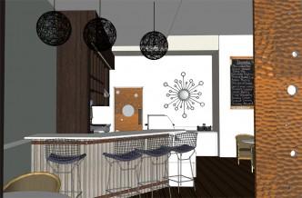 Urban Cafe- Service Counter