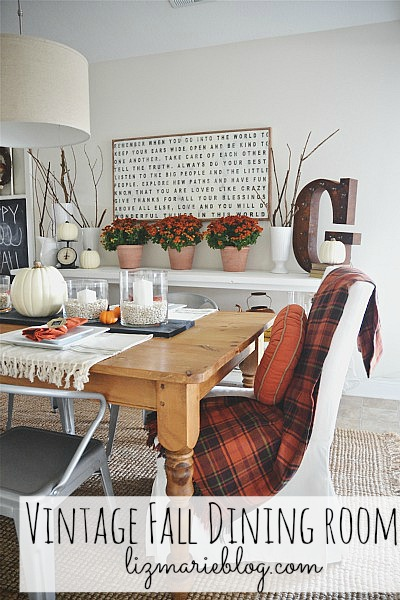 Fall Dining Room from Liz Marie Blog