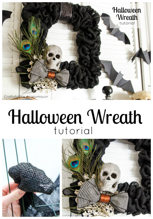 Halloween Wreath by Craftaholics Anonymous