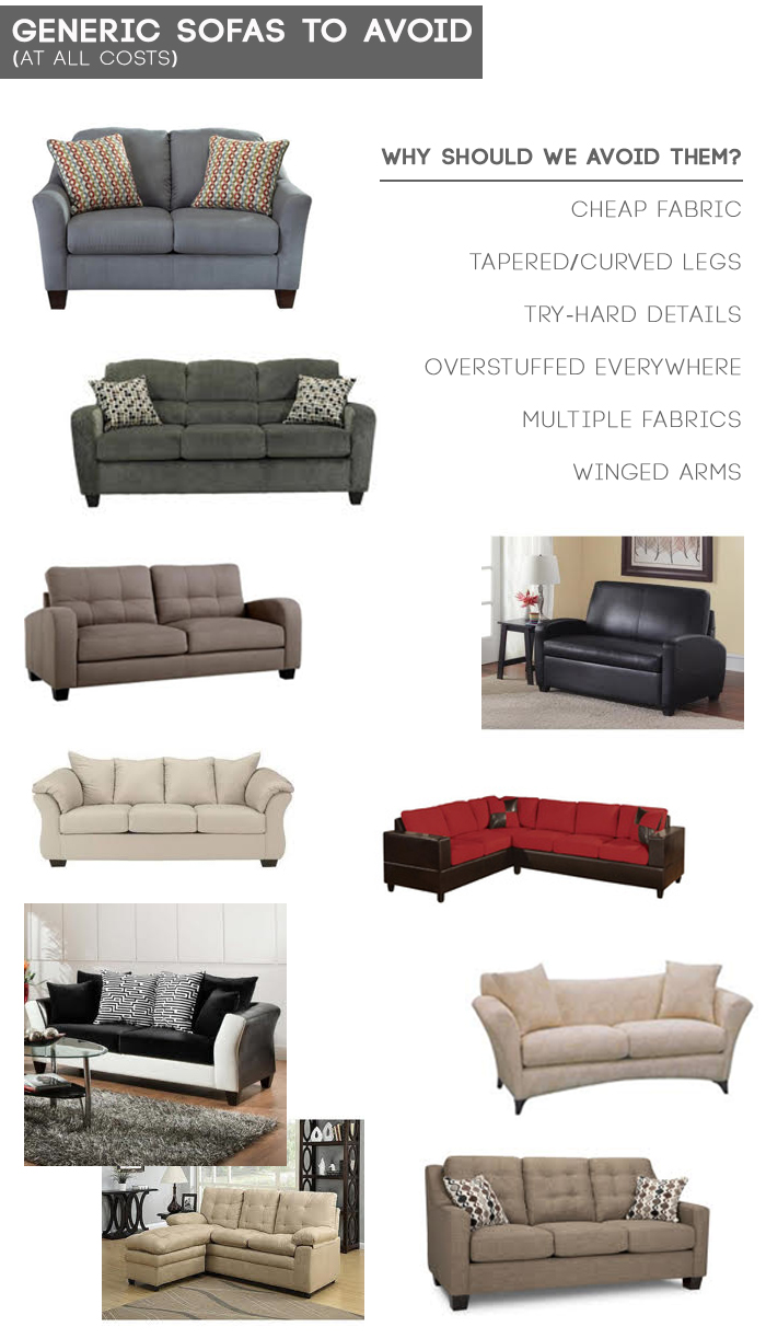 Generic Sofa's to Avoid by Emily Henderson (Style by Emily Henderson)