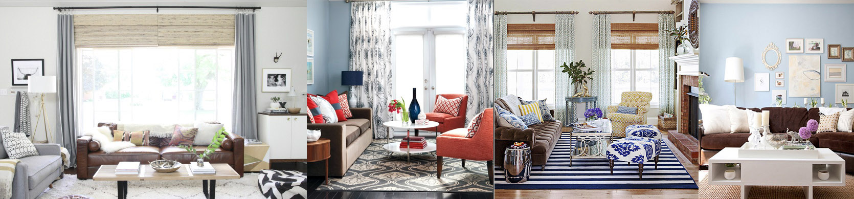 brown sofa inspiration