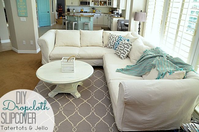 Slipcover Tutorial by Tatertot and Jello
