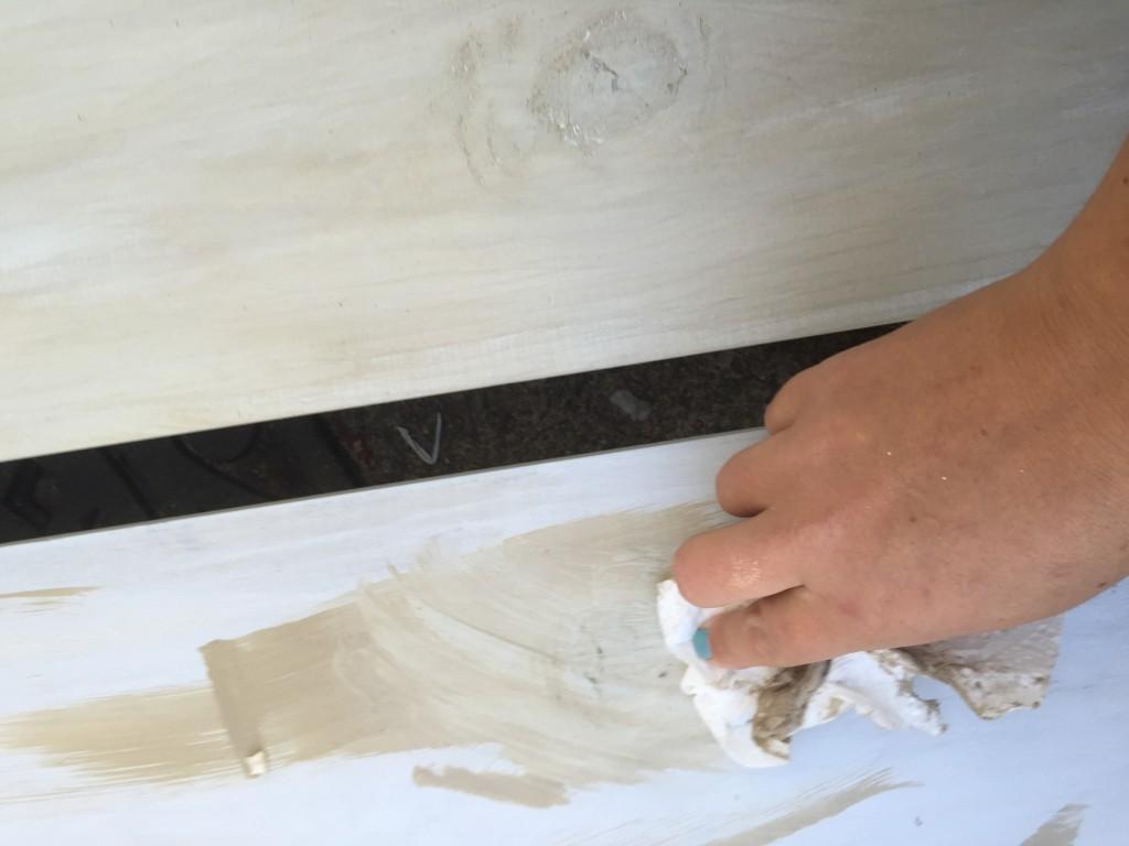 Rubbing Annie Sloan Chalk Paint_JLM DESIGNS