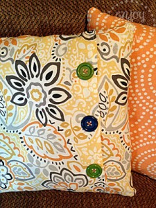 button pillow JLM Designs