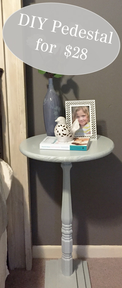JLM Designs, DIY Pedestal Table, $28, Cheap DIY Side Table