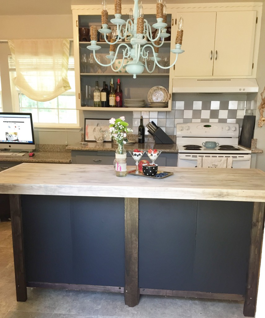 DIY Kitchen Island From Bookcases