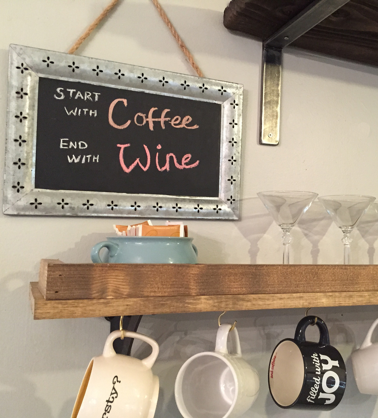 Wine Coffee Shelf