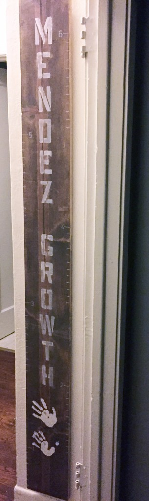 Growth Chart with Kid Hand Prints- JLM_DESIGNS