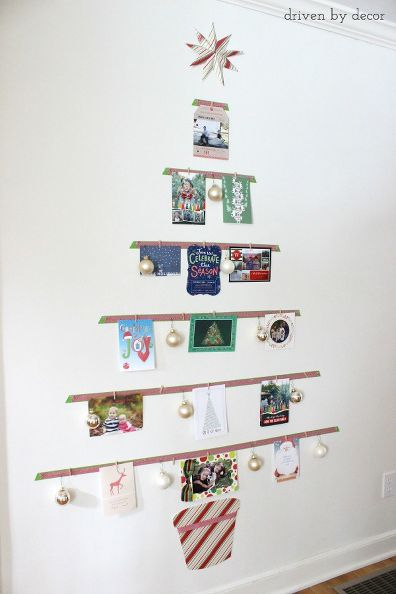 how-to-turn-your-cards-into-a-christmas-tree-display-christmas-decorations-crafts-seasonal-holiday-decor