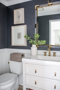 navy blue bathroom ideas - jlm designs
